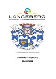 WC026 Langeberg AFS 2010-11 Unaudited