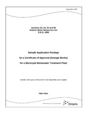 Sample Application Package For A Certificate Of Approval