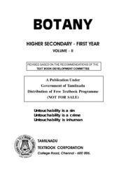 Botany Volume 2 (Std11 - English Medium) : Free Download