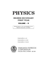 Physics Volume 2 (Std11 - English Medium) : Free Download