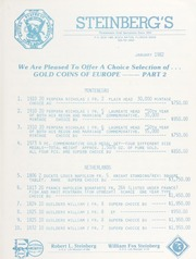 Steinberg's Fixed Price List: 1982