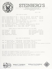 Steinberg's Fixed Price List: 1986