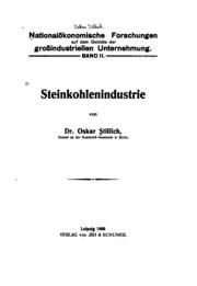 Steinkohlenindustrie