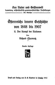 Vol 2: Österreichs innere Geschichte von 1848 bis 1907 ..