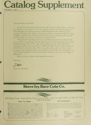 Steve Ivy Rare Coin Co. Catalog Supplement: 1977