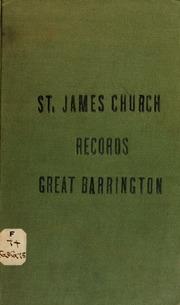 St  James' Church records : Great Barrington, Mass  St  James