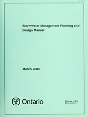 stormwater management planning and design manual ontario ministry of the environment free