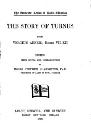 virgil s aeneid turnus the main antagonist It is not only turnus and the latins who cause death and destruction  advocate of such a view vis-à-vis turnus, aeneas' rutulian antagonist, is hp stahl.