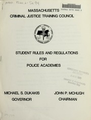 Student rules and regulations for police academies