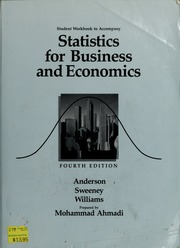 Student workbook to accompany Statistics for business and