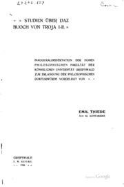 Studien über DAZ Buoch von Troja I-II...: Inauguraldissertation