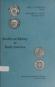 Studies on Money in Early America