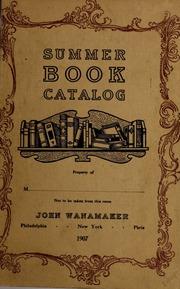Summer book catalog, 1907