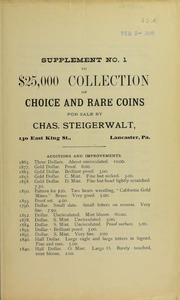 Supplement No. 1 to $25,000 Collection, No. 62A