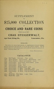 Supplement to $25,000 Collection ..., No. 62B