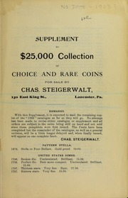 Supplement to $25,000 Collection ..., No. 62C