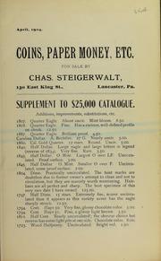 Supplement to $25,000 Catalogue, April 1904
