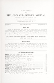 Supplement to The Coin Collector's Journal