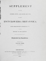 Supplement to the Fourth, Fifth, and Sixth Editions of the Encyclopedia Britannica