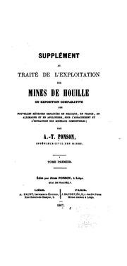 Supplément au Traité de l-exploitation des mines de houille, ou, Exposition comparative des ...