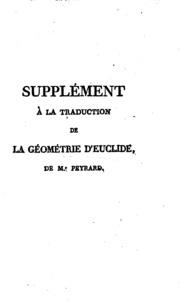Supplément à la traduction de la géométrie d-Euclide