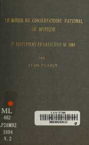 Suppl ments au catalogue de 1884 conservatoire national for Au jardin de l infante albert samain