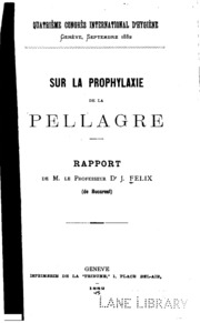 Sur la prophylaxie de la pellagre