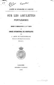 Sur les amulettes portugaises: Résumé d-un mémoire destiné à la 10ème ...