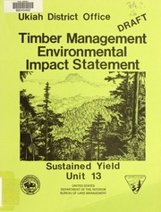 Eastern idaho sustained yield unit ten year timber for Environmental management bureau region 13