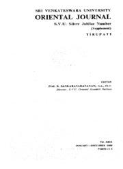 s.v.u.oriental journal vol-23,part1,2