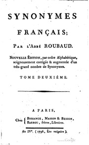 Synonymes français;