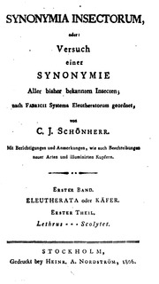 Synonymia insectorum          texts        Synonymia insectorum