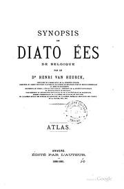 Synopsis des diatomées de Belgique