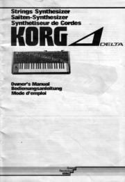 Synthesizer Manuals: Korg : Free Texts : Free Download, Borrow and