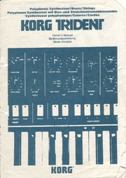 Korg Trident Owner's Manual : Free Download, Borrow, and Streaming