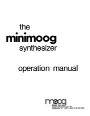Synthesizer Manuals: Moog : Free Texts : Free Download, Borrow and