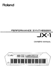 Roland JX-1 Owner's Manual : Free Download, Borrow, and