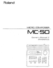 Roland mc-50 owner's manual part 2 (reference): free download.