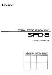 Wonderbaarlijk Roland SPD-8 Owner's Manual : Free Download, Borrow, and Streaming US-28