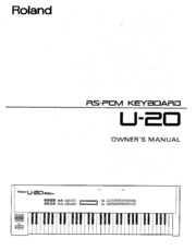 roland u 20 owner s manual free download borrow and streaming rh archive org roland u-20 specifications roland u 20 service manual