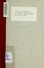 Tableau de Paris. Table analytique ..