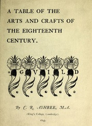 A table of the arts and crafts of the eighteenth century