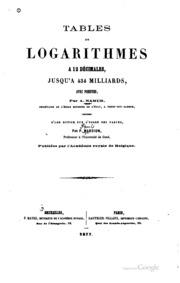 Tables de logarithmes à 12 décimales, jusqu-à 434 milliards