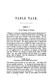 table talk or original essays william hazlitt  table talk opinions on books men and things