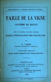 Taille de la vigne système de Royat