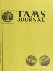 TAMS Journal, Vol. 10, No.4 Part I