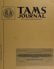 TAMS Journal, Vol. 12, No. 3