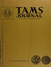 TAMS Journal, Vol. 12, No. 5