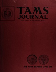 TAMS Journal, Vol. 13, No. 3