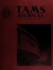 TAMS Journal, Vol. 13, No. 4 Part I